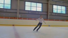 Jumping of the Figure Skater Stock Footage