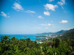 Viewpoint, tropical island, Phuket, time lapse Stock Footage