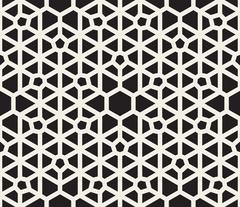 Vector Seamless Black and White Lace Pattern Stock Illustration