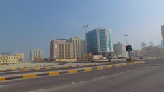 Bahrain's Seef district of Manama Stock Footage