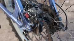 Close up View of Bicycle's Gear Transmission Stock Footage