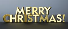 Merry Christmas concept, 3D rendering Stock Illustration