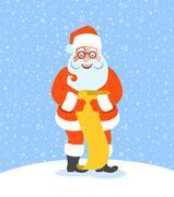 Santa Claus reads Naughty or Nice Kids List Stock Illustration