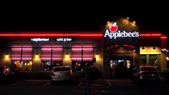 4K Applesbees family restaurant bar and grill Stock Footage