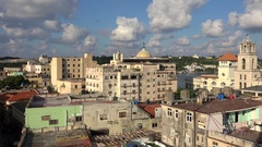 Old Havana skyline with the harbor, Sierra Maestra Terminal &  Commerce Building Stock Footage