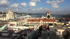 Old Havana (La Habana Vieja) skyline Stock Footage