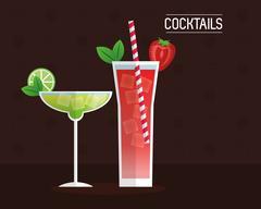 Drink menu cocktail restaurant bar design Piirros
