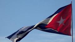 Waving flag of Cuba Stock Footage