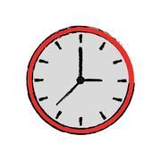Cartoon clock time watch work icon Stock Illustration
