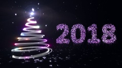 New year background. Black. 2018. Stock Footage