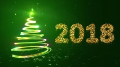 New year background. 2018. Green. Stock Footage