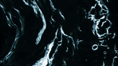 Black Water Animated In Slow Motion - 15 Stock Footage