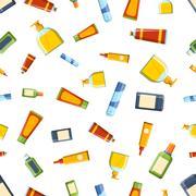 Perfume tube seamless pattern vector Stock Illustration