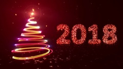 New year background. 2018. Red. Stock Footage