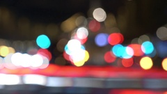 Abstract traffic vehicle tail lights strobe, urban living, car chaos Stock Footage