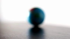 Australia Earth Globe Ball Rolling Into And Out Of Focus Stock Footage
