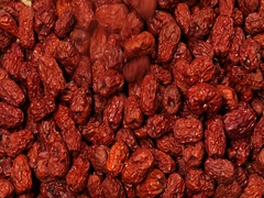 Falling a mass of red jujube Stock Footage