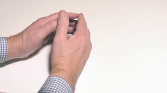 Ticking the fingers  Stock Footage