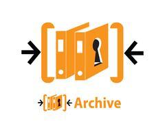 Archive Logo Design Stock Illustration