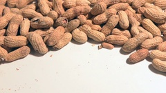 Peanuts on the table Stock Footage