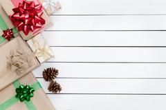 Christmas Themed Gifts Boxes Left Border Kuvituskuvat