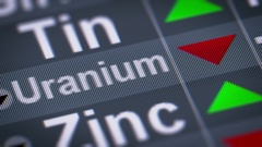 Uranium. Down. Looping. Stock Footage
