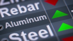 Aluminum. Up. Looping. Stock Footage