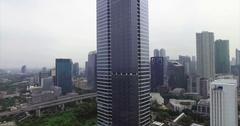 Jakarta Tallest Building Aerial Stock Footage