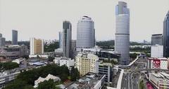 Aerial View of Kuala Lumpur Skyline, Malaysia Stock Footage