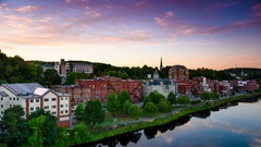 Augusta, Maine, Skyline Time Lapse Stock Footage