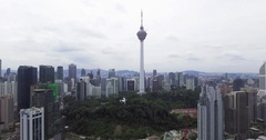 Aerial of Kuala Lumpur Skyline in Malaysia Stock Footage