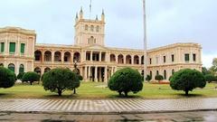 Presidential Palace of Asunción, Paraguay Stock Footage