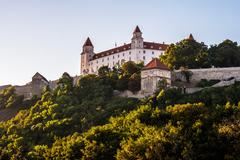 Bratislava castle in capital city of Slovak republic Stock Photos