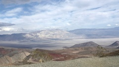Timelapse of mountains and a road in Death valley, California, in United stat Stock Footage