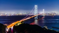 Akashi Kaikyo Bridge Stock Footage
