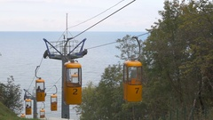 Cable car city Svetlogorsk Stock Footage