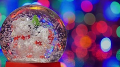 Christmas snow globe. Stock Footage