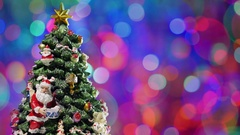 Christmas tree rotating. Stock Footage