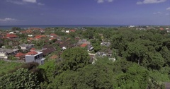 Aerial Footage of Beach Town in Bali, Indonesia Stock Footage