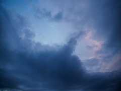 Sunset in the sky, from light to dark clouds, time lapse Stock Footage