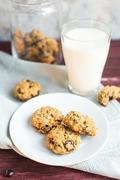 Useful baking: oatmeal cookies with yogurt Stock Photos