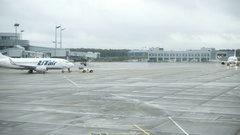 International airport of Vnukovo - one of three main airports of Moscow Stock Footage