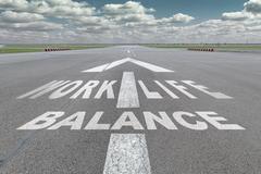 Airport runway arrow Stock Photos