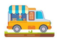 Store fast food van Stock Illustration
