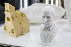 Scan to 3D printer bas President Putin Stock Photos