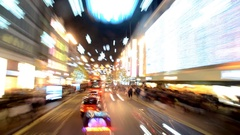 Christmas in London. Timelapse.Road view Stock Footage