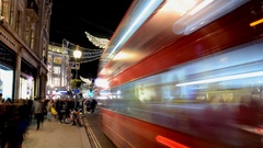 Christmas time in Central. Timelapse.Oxford Street Stock Footage