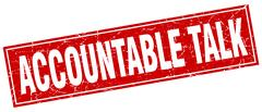 Accountable talk square stamp Stock Illustration