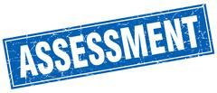Assessment square stamp Stock Illustration
