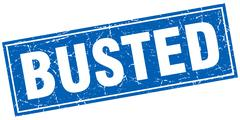 Busted square stamp Stock Illustration
